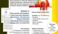 One Day Workshop: Improving Your Career Interview Skill